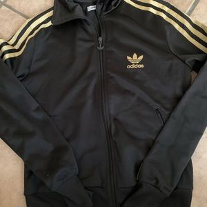 ADIDAS Three strip gold jacket